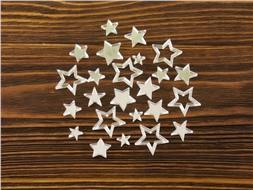Набор серебристых звездочек из зеркального акрила