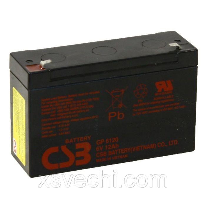 Аккумуляторная батарея CSB 12 Ач 6 Вольт GP 6120