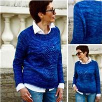 Набор с описанием свитера «CRYSTAL» на объем 110 см.