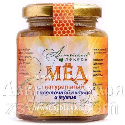 Мед с цветочной пыльцой и мумие