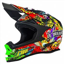 Шлем кроссовый 7Series CRANK чёрный/цветной L