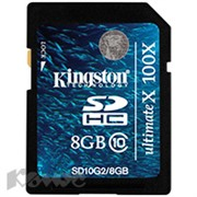 Карта памяти Kingston SDHC 8GB Class 10 UHS-I(SD10V/8GB)