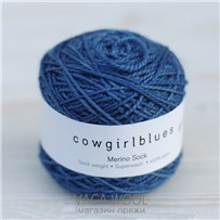 Пряжа Merino Sock solid Танзанит, 160м/50г., Cowgirlblues, Tanzanite