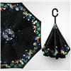 Зонт-наоборот антизонт с кнопкой Цветочный