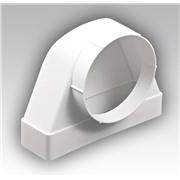 511СК10ФП, соединитель угловой 90º, плоского возд. с фланцевыми возд/распред. пластик, 55х110/D100