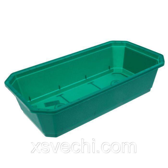Ящик для рассады, 45 х 24 х 12 см, зелёный