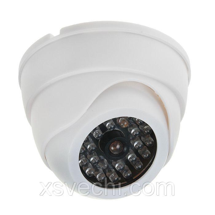 Муляж видеокамеры VM-4, со светодиодным индикатором, 2АА (не в компл.), белый