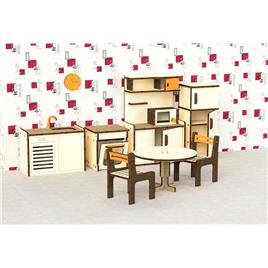 """M-WOOD Кукольная мебель деревянная M-WOOD """"Кухня"""" 9  предметов"""