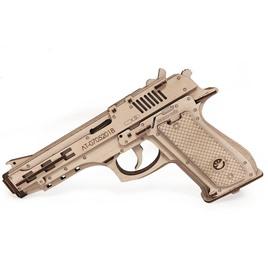 Lemmo Конструктор 3D деревянный Lemmo Пистолет-резинкострел с мишенями