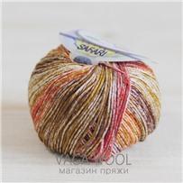 Пряжа Safari цвет терракотово-коричневый 06, хлопок,  118м/50гр Miss Tricot Filati