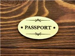 Шильдик пластиковый Passport 2