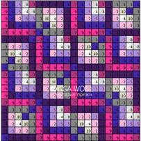 ПЛЕД-КВАДРАТ Розово-фиолетовый, размер ИДЕАЛ