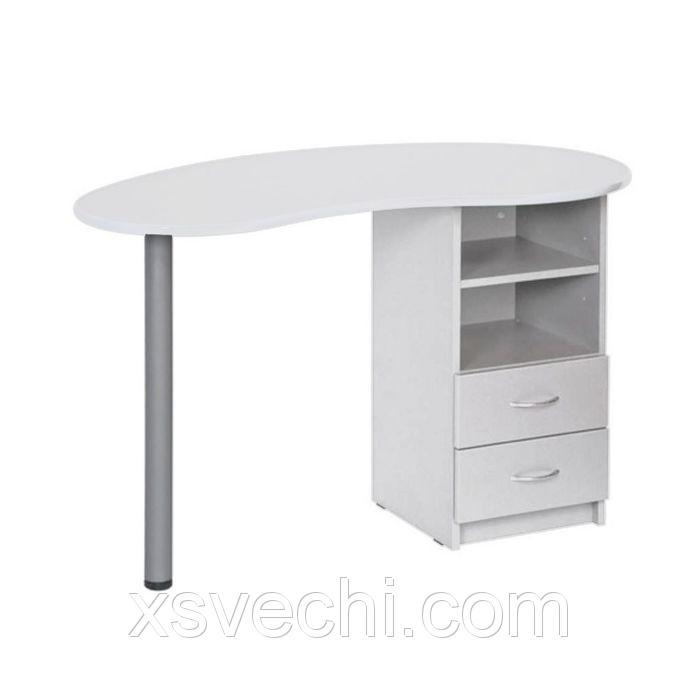 Стол маникюрный КАТРИН, без вытяжки, 1180х600х750, цвет белый