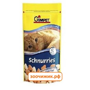 Витамины Gimpet Schnurries для кошек сердечки с лососем и таурином (50гр)