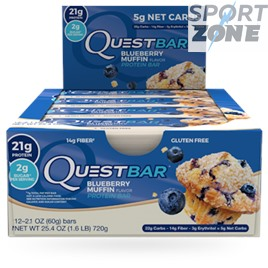 Батончик протеиновый QuestBar Blueberry Muffin (12 шт)