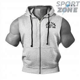 Безрукавка GASP Throwback Zip Hood, Grey Melange