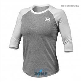 Футболка с длинным рукавом Better Bodies Womens Baseball Tee, Grey Melange