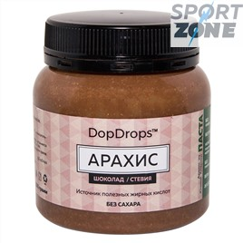 Паста DopDrops Арахис 250г (шоколад, стевия)