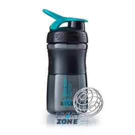 SportMixer 591мл Black/Cyan [черный/бирюзовый]