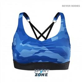 Спортивный топ Better Bodies Athlete Short Top, Blue Camo