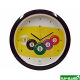 Часы настенные D29 см (черные), интернет-магазин товаров для бильярда Play-billiard.ru