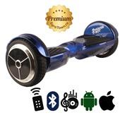 Гироскутер Hoverbot A6 Premium глянцевый синий (приложение + Bluetooth-музыка + 3 режима работы + пульт + сумка)