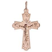 Крест золотой № 130-090-49, золото 585°