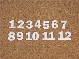 Набор цифр от 1 до 12 (6)