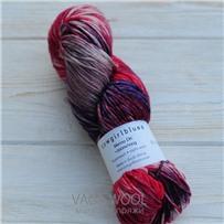 Пряжа Merino DK multicolor фиолет/губная помада/грязная роза/выцветшая роза, 200м/100г, Cowgirlblues