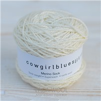 Пряжа Merino Sock solid Натуральный, 160м/50г, Cowgirlblues, Naturale