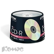 Носители информации TDK CD-R 700Mb 52x Cake/50
