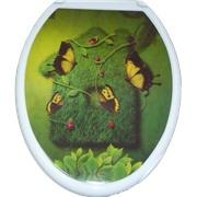 Сиденье д/унитаза (жесткое) Бабочка на траве