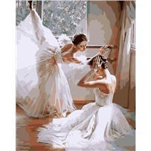 """Картина для рисования по номерам """"Балерины"""" арт. G 399"""