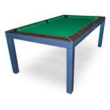 Бильярдный стол для пула «Evolution High Tech» ЛДСП 6 ф (столовая покрышка в комплекте, венге), интернет-магазин товаров для бильярда Play-billiard.ru