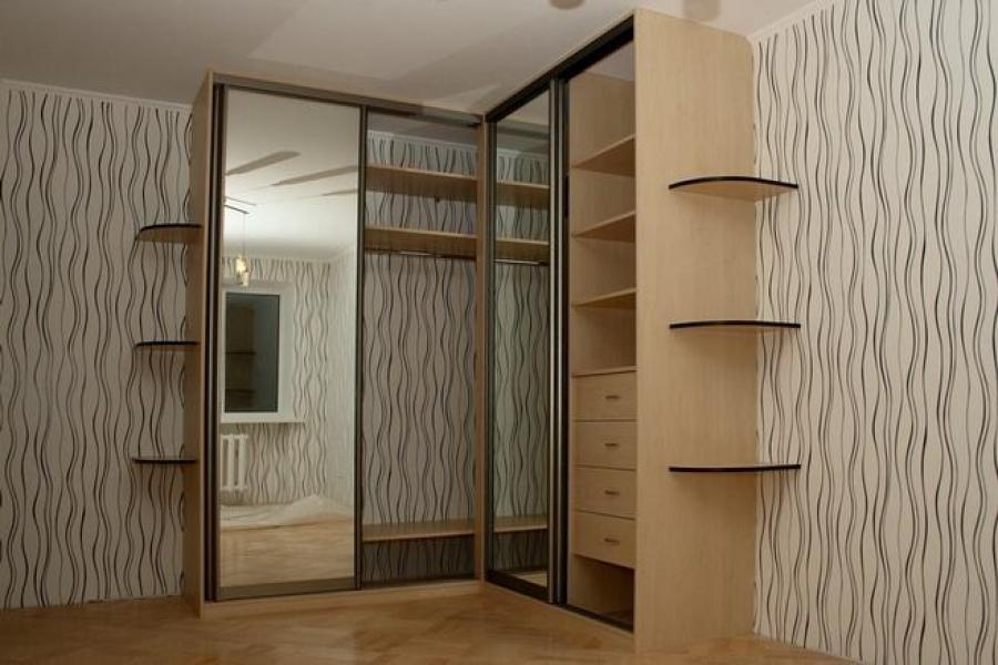 угловой шкаф в спальню москва - фото 5