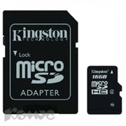Карта памяти Kingston microSDHC 16GB Class 4(SDC4/16GB)