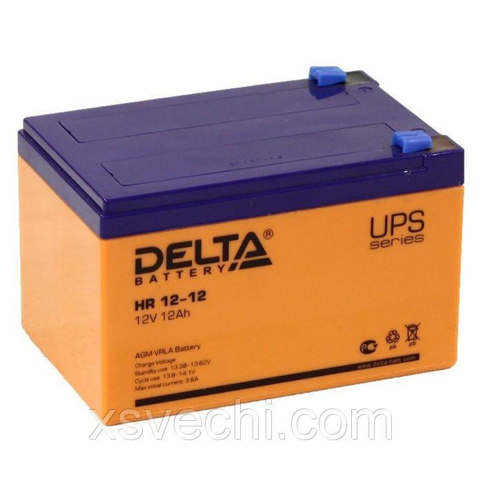 Аккумуляторная батарея Delta 12 Ач 12 Вольт HR 12-12