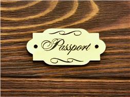 Шильдик пластиковый Passport 1