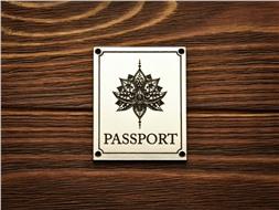 """Шильдик Passport """"Лотос"""""""
