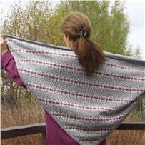 Набор для шали CHARMING GREY размер 80х200 см. Автор Новикова Светлана