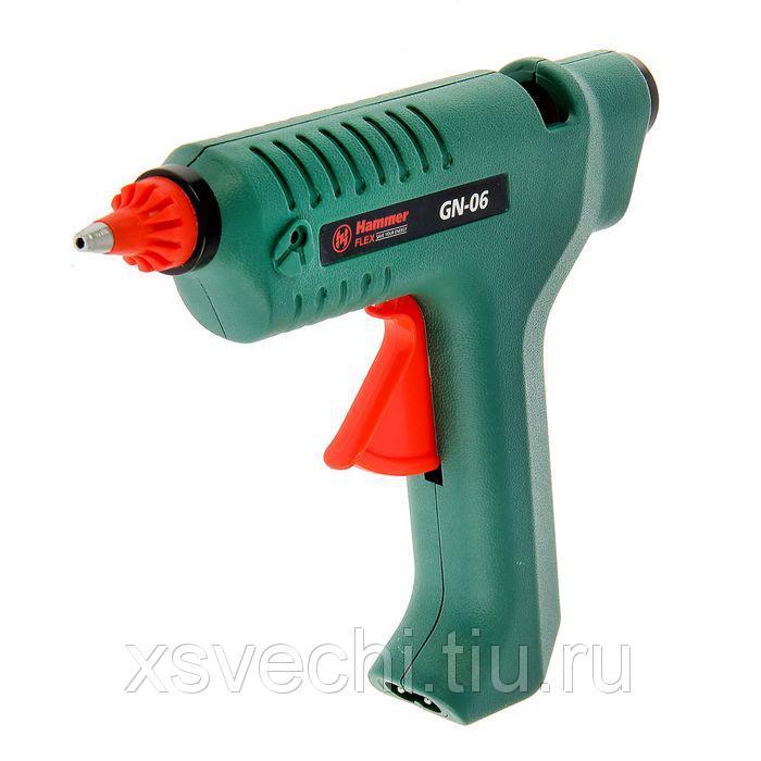 Клеевой пистолет Hammer Flex GN-06 80, 15 Вт, 22 г/мин, 11.2 мм клеевые стержни