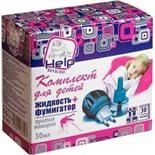 Комплект HELP от комаров для детей: фумигатор+жидкость 30 ночей (80523)