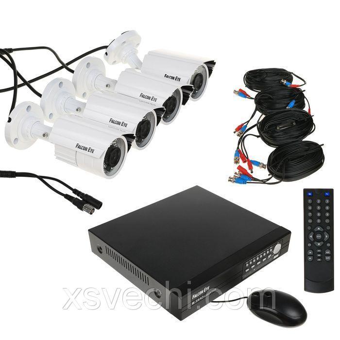 Комплект видеонаблюдения Falcon Eye FE-104AHD-KIT ДАЧА.1, AHD, 1 Мп, 4 уличных