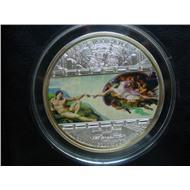 «Сотворение Адама» Микеланджело Буонарроти Тираж 1000 шт