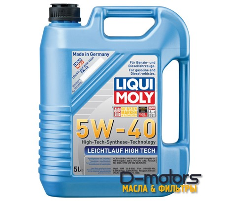 LIQUI MOLY LEICHTLAUF HIGH TECH 5W-40 (5л.)