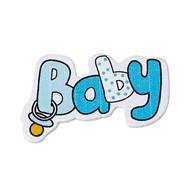 Декоративный элемент Baby голубой