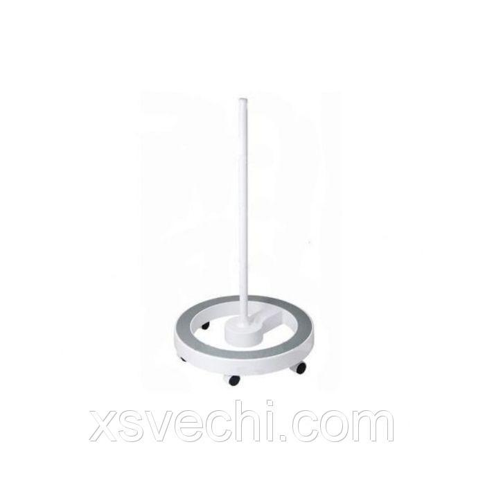 Стойка для лампы Нarizma h10448, круглая, ободок, 6 колес, белый/серый