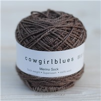 Пряжа Merino Sock solid Какао, 160м/50г., Cowgirlblues, Cocoa