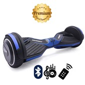 Гироскутер Hoverbot A6 Premium матовый синий (приложение + Bluetooth-музыка + 3 режима работы + пульт + сумка)