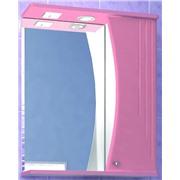 Зеркальный шкафчик восход 55 розовый матовый с подсветкой